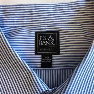 Striped dress shirt with French cuffs